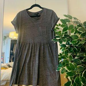 Grey babydoll dress